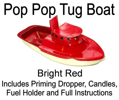 Pop PopTug Boat - Red.