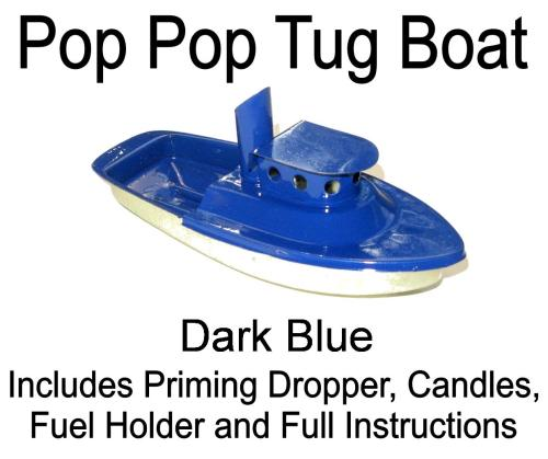 Pop Pop Tug Boat - Dark Blue