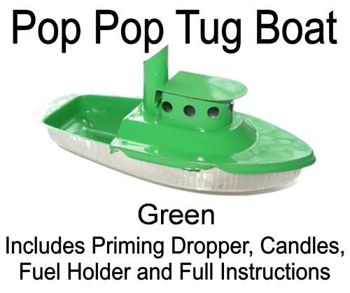 Pop Pop Tug Boat - Green