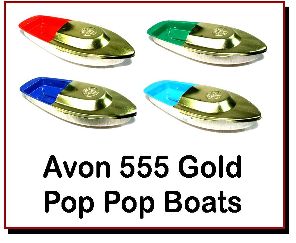 <!-- 00221 -->Avon Gold Pop Pop Boats