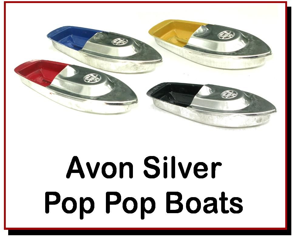 <!-- 00223 -->Avon Silver Pop Pop Boats