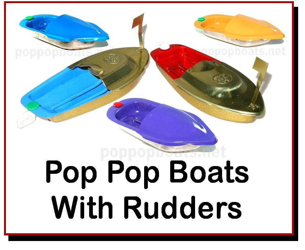 <!-- 025 -->Pop Pop Boats With Rudders.