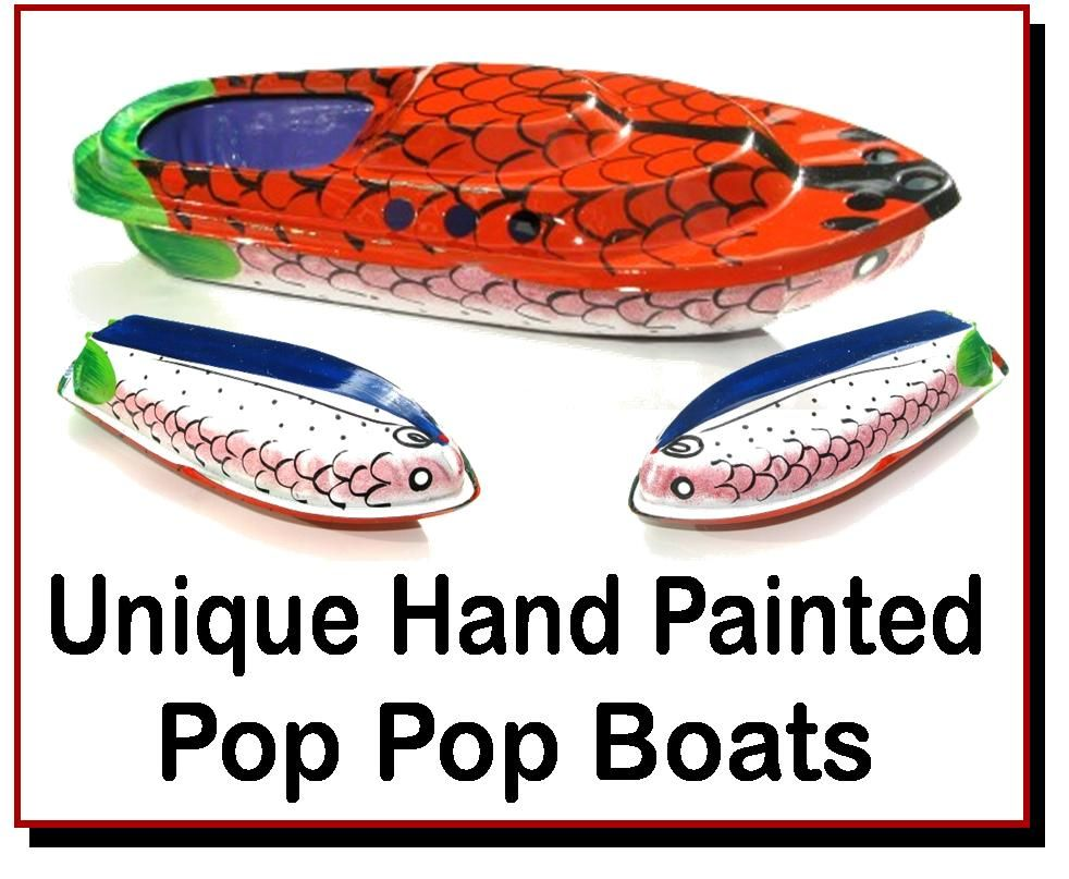 <!-- 0608 -->Unique Hand Painted Pop Pop Boats