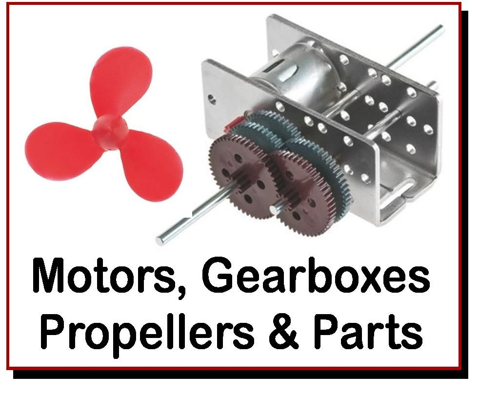<!-- 094 -->Motors, Gearbox Kits, Propellers.