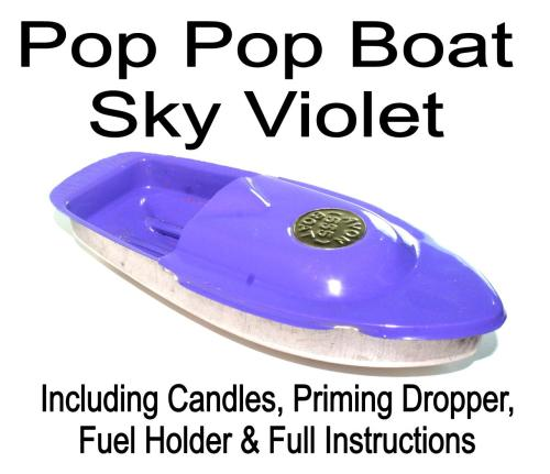 Avon 555 Pop Pop Boat - Light Violet.