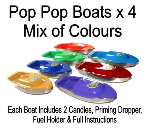 4 Pop Pop Boats. Special Offer.