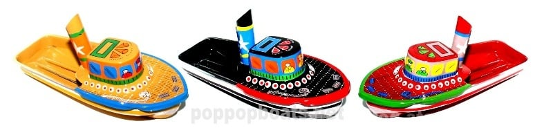 large hand painted pop pop boats limited stock