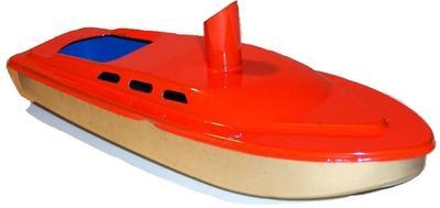 Rum Runner Pop Pop Boat -  Bright Orange.
