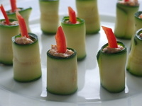 canape - Courgette Candles