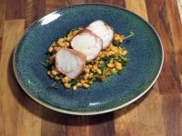 monkfish, chorizo and beans