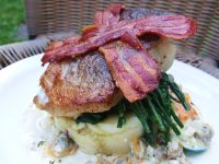 Roast Cod with Smokey Bacon Mash