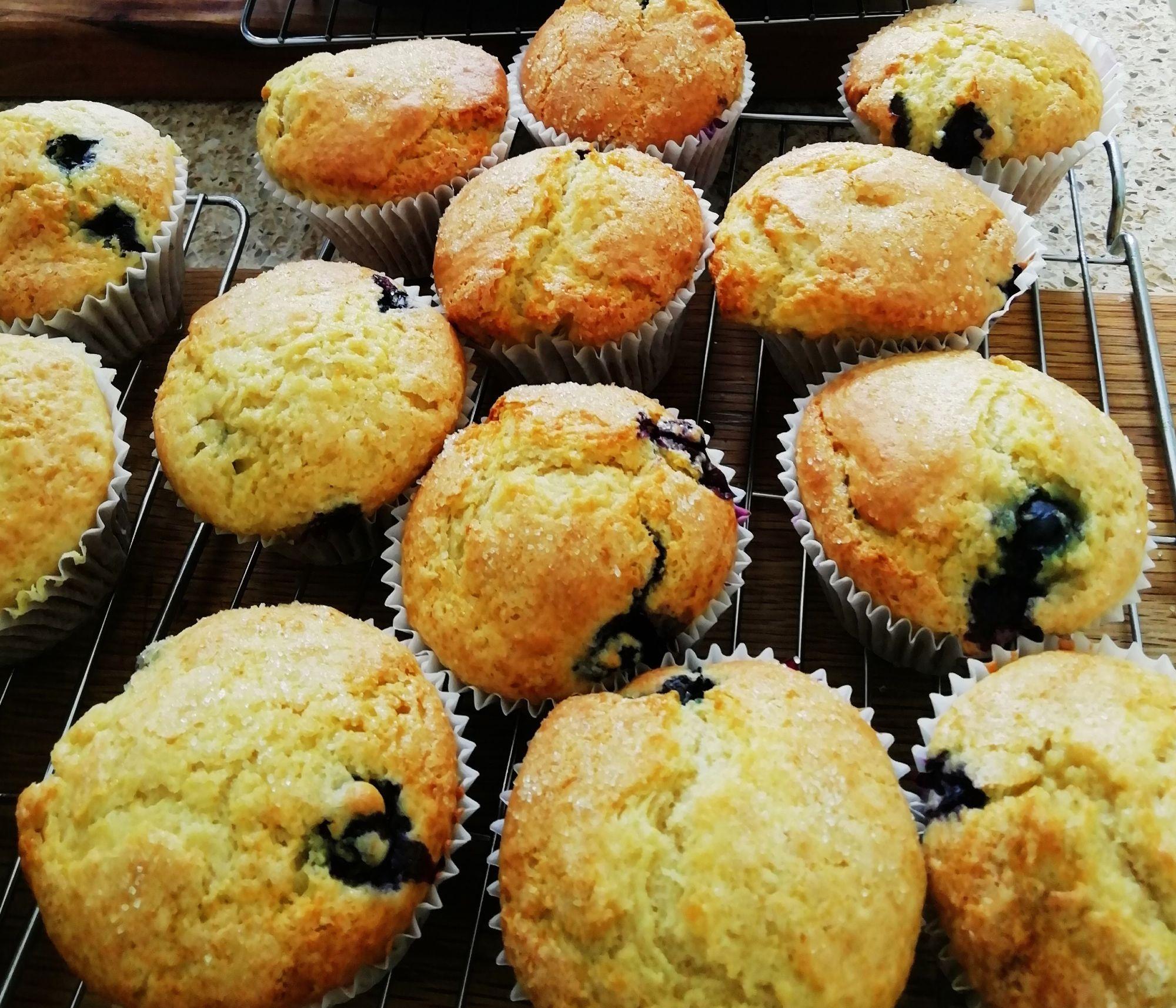 blueberry muffins 2