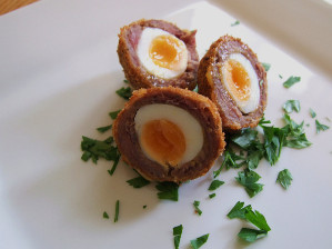 canape - venison scotch egg