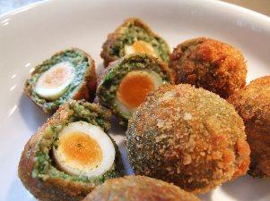 canape veggie scotch eggs