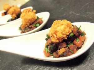 canape - olive_salsa_fried_macadamia