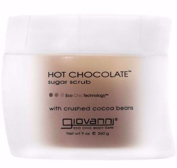 Hot Chocolate Sugar Scrub with cocoa beans