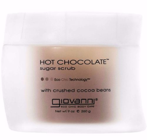 Hot Chocolate Sugar Scrub with cocoa beans