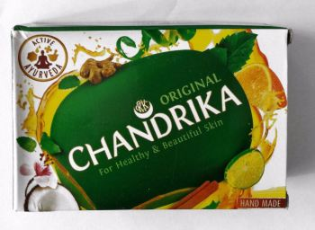 Chandrika Coconut  Ayurveda Natural  Soap 75g bar (chand75)