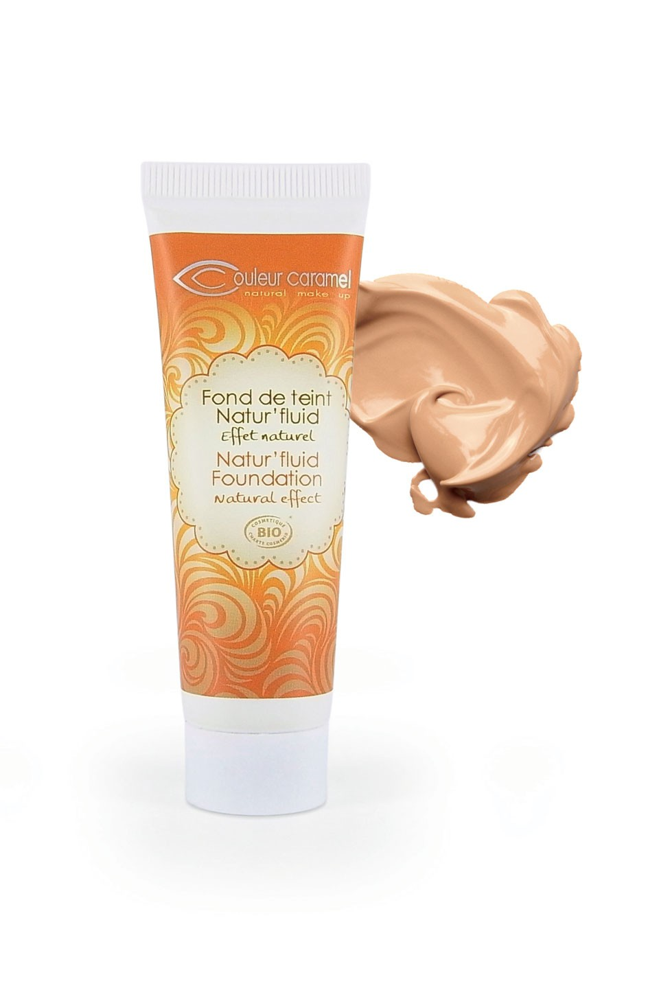 Foundation Natural Fluid  (14) Couleur Caramel - GOLDEN BEIGE