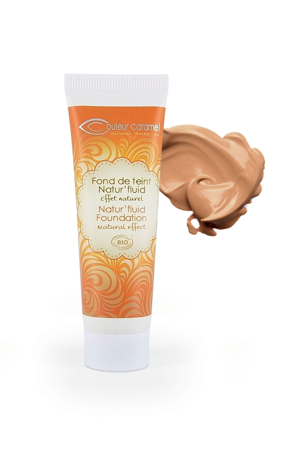 Foundation Natural Fluid  (15) Couleur Caramel - TANNED BEIGE