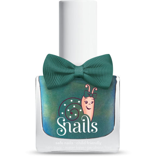 <!-- 001 -->Aurora - GREEN Snails  Nails Washable Polish