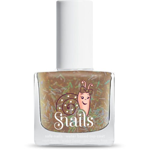 <!-- 008 -->Gold Rain - GOLD top Coat Snails  Nails Washable Polish
