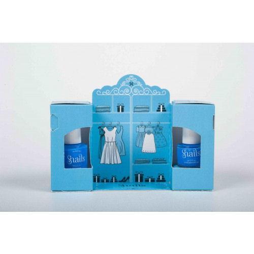 <!-- 020 -->Snails Nails Gift Box - ME & mini me - Blue