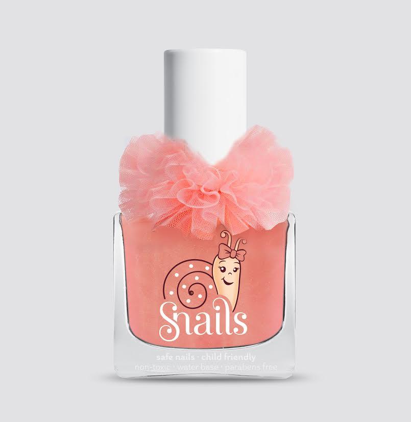 <!-- 001 -->Ballerina - Tangerine orange Snails  Nails Washable Polish