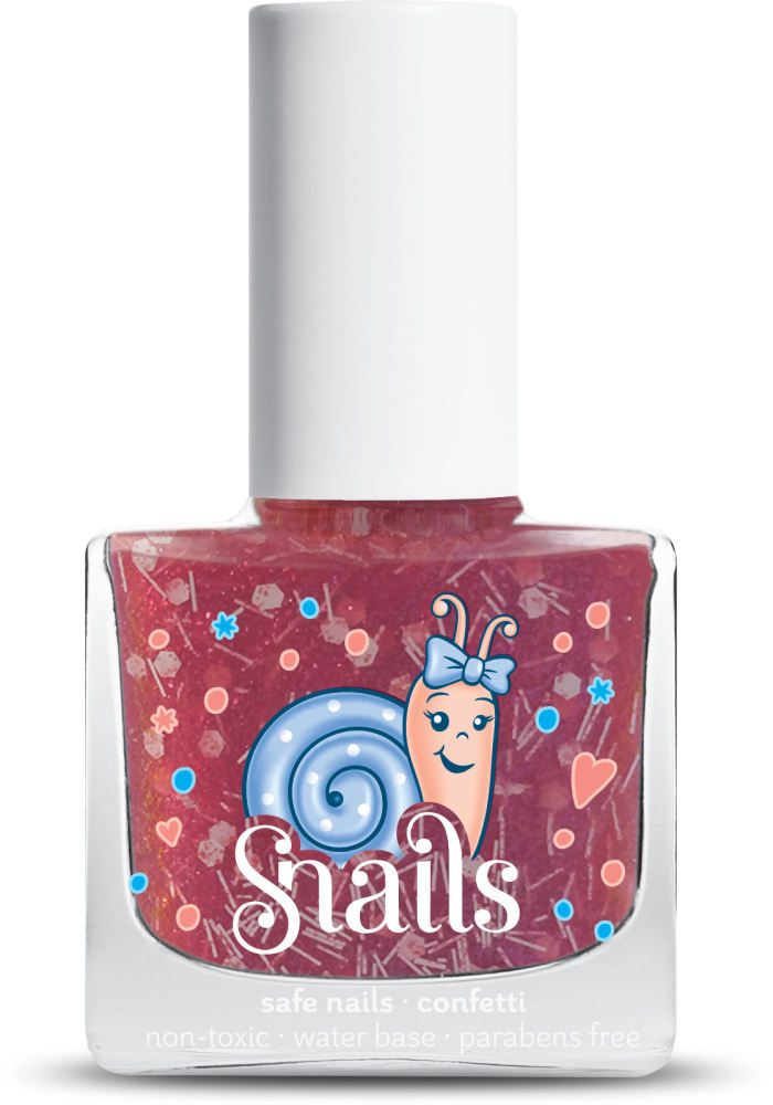 <!-- 004 -->CANDY CANE Snails Washable Polish