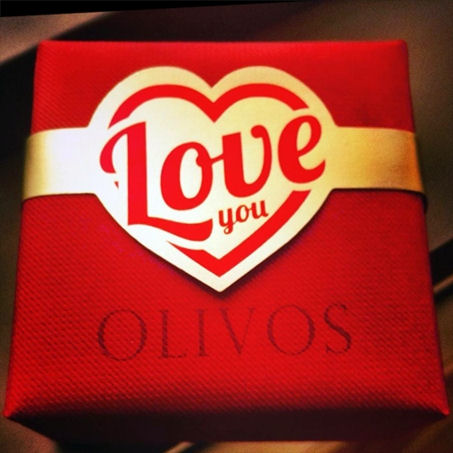 Soap from Olivos. Love you soap in gift box