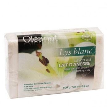 Donkey Milk Soap with White Lillies 100g - Oleanat