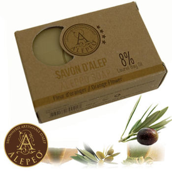 Aleppo Orange Flower Soap 8% Bay Laurel 100g - Najel (020)