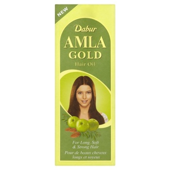 Amla Gold Hair Oil with Canola, henna  - Dabur