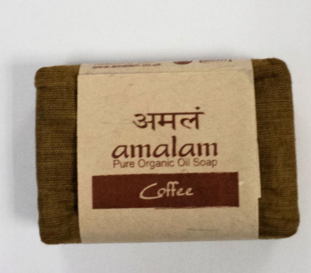 Amalam Pure Organic Oil Soap -  Coffee - 125g