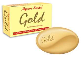 Mysore GOLD Sandal Soap with Almond Oil 125g bar (mysore)
