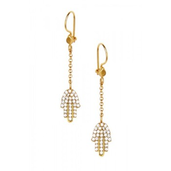 Earrings Hand of Fatima Crystal - Ottoman Hands  (OH/E207)