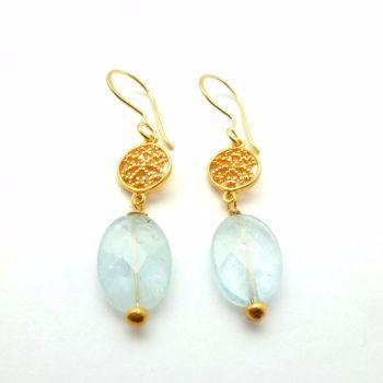 Aquamarine Valflower earrings Mirabelle