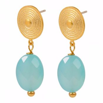 Etruscan Blue Chalcedony earrings Mirabelle