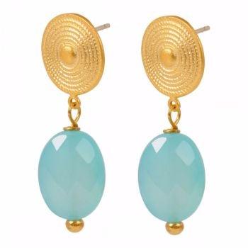 Etruscan Blue Chalcedony earrings Mirabelle