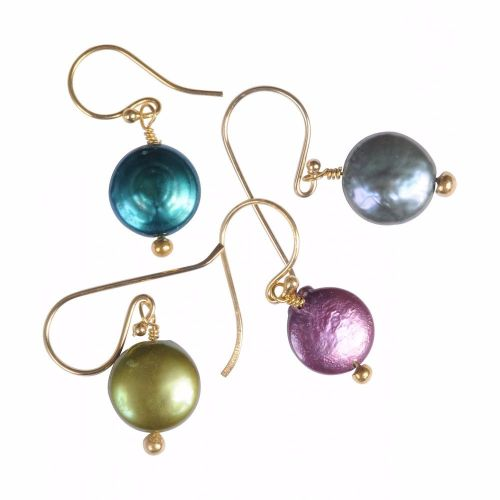 Pearl Earrings PURPLE - Gold Plated - Mirabelle (Carita)