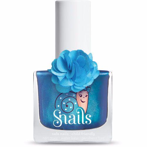 <!-- 008 -->LILY- BLUE Snails  Nails Washable Polish
