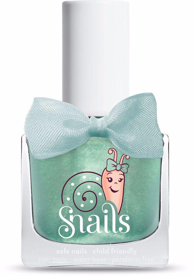 <!-- 010 -->Magic Crystal - Green Snails  Nails Washable Polish