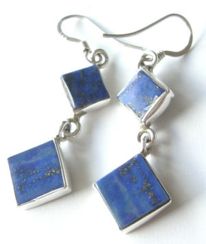 Lapiz Lazuli Silver Earrings