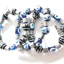 Evil Eye Blue Stretchie Bracelet