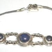 Lapis Lazuli Silver Chain Bracelet