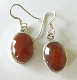 Carnelian Silver Earrings Fancy design (CAE20)
