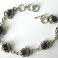 Amethyst silver bracelet  (AMBR01)