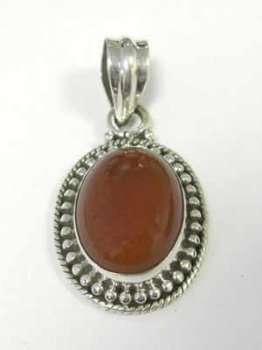 Carnelian Silver Pendant Fancy design (CAPE01)