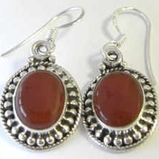 Carnelian Silver Earrings (CA01E)