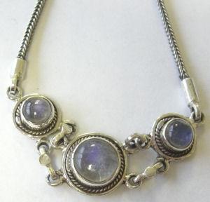 moonstone Silver Chain Bracelet